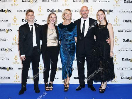 Lawrence Dallaglio, with son Enzo, daughter Josie, wife Alice and daughter Ella