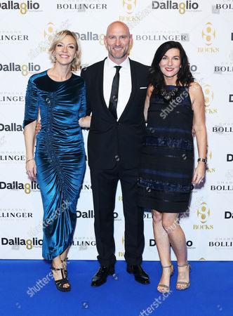 Lawrence Dallaglio, with wife Alice and Dallaglio