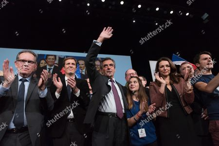 Jerome Chartier, Francois Fillon and Valerie Boyer
