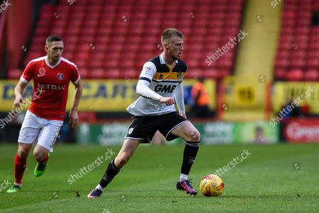Port Vale midfielder Sam Kelly (7) on the ball during the EFL Sky Bet League 1 match between Charlton Athletic and Port Vale at The Valley, London