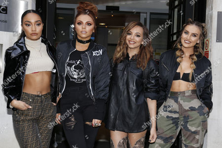 Little Mix - Leigh-Anne Pinnock, Jesy Nelson, Jade Thirlwall and Leigh Ann Pinnock at the studios of BBC Radio 2