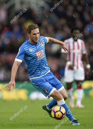 Dan Gosling of Bournemouth during the Premier League match between Stoke City  and Bournemouth played at The bet365 Stadium, Stoke-on-Trent, Saturday the 19th of Novemeber 2016