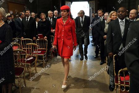Princess Charlotte Casiraghi Monaco's Princess Charlotte Casiraghi arrives to attend a mass at the Saint Nicholas cathedral during the celebrations marking Monaco's National Day, in Monaco