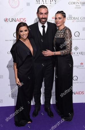 Robert Pires and Jessica Pires with Eva Longoria