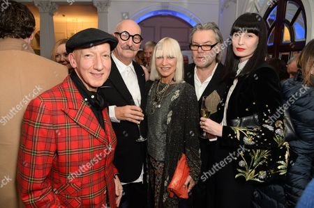 Stephen Jones, Tony Glenville, Virginia Bates, David Downton and Erin O'Connor