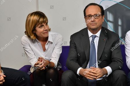 Editorial picture of Francois Hollande visits Sigfox Headquarters, IoT Valley startup accelerator, Labege, France - 19 Nov 2016