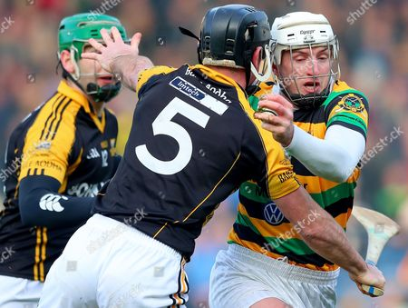 Stock Picture of Glen Rovers vs Ballyea. Ballyea?s Gearoid O?Connell and Patrick Horgan of Glen Rovers