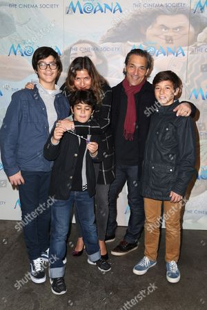 Jill Hennessy, Paolo Mastropietro and Children
