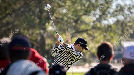 Camilo Villegas Camilo Villegas, of Columbia, hits off the ninth tee during the final round at the RSM Classic golf tournament, in St. Simons Island, Ga