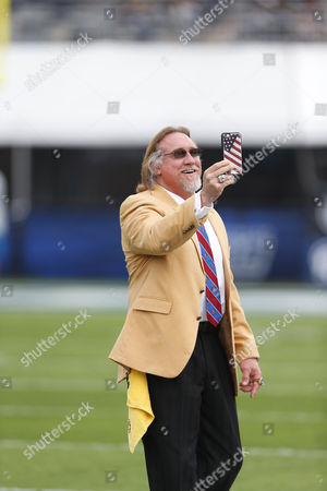 NFL Hall of Famer Kevin Greene during the NFL football game between the Miami Dolphins and the Los Angeles Rams at the Los Angeles Coliseum in Los Angeles, California