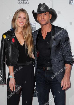 Stock Photo of Maggie McGraw and Tim McGraw