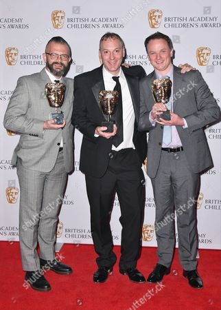 Stock Picture of David Skinner, Sid Cole and Steve Ryde winners of Entertainment Award for 'Sam & Mark's Big Friday Wind-up'
