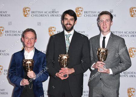 Bob Ayres, Adam Tyler and Jonathan Green winners of Drama Award for 'Refugee'