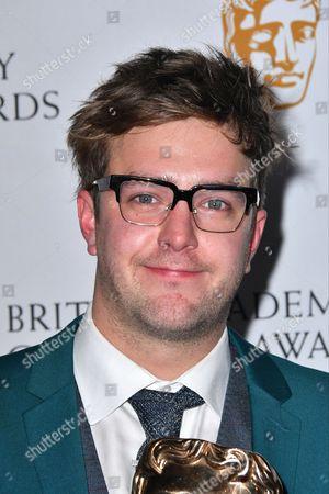 Ian Stirling winner of Presenter Award for 'The Dog ate My Homework'