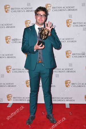 Stock Image of Ian Stirling winner of Presenter Award for 'The Dog ate My Homework'