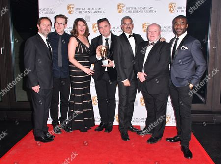 Tim Harper, Mark Gordon, Megan Martin, Colin Williams, Andrew Rajan and Sean Murphy winners of Independent Production Company for 'Sixteen South'