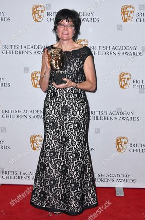 Kay Benbow winner of Channel of the Year Award for Cbeebies