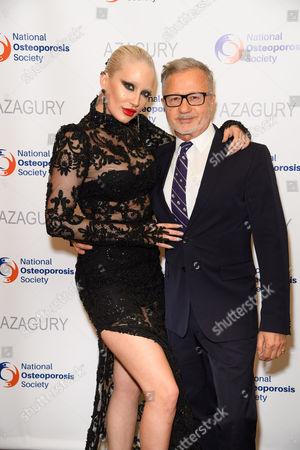 Gina Harrison and designer Jacques Azagury