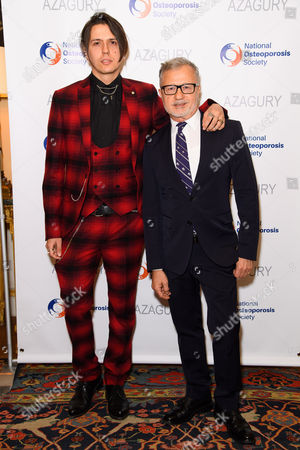 Stock Image of Aaron Grimes and designer Jacques Azagury