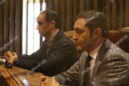 Alaa and Gamal Mubarak, the sons of former former president Hosni Mubarak