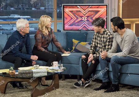 Phillip Schofield and Holly Willoughby with Ryan Lawrie and Rylan Clark