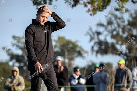 Mackenzie Hughes Mackenzie Hughes, of Canada, reacts after Camilo Villegas, of Colombia, misses a par putt on the 17th hole during the playoff round at the RSM Classic golf tournament, in St. Simons Island, Ga