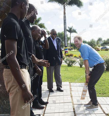 Prince Harry meets Sir Vivian Richards