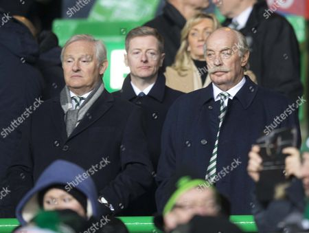 Celtic chairman Ian Bankier and director Dermot Desmond