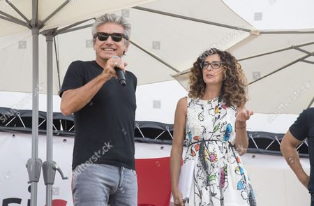 Luciano Ligabue and Teresa Mannino