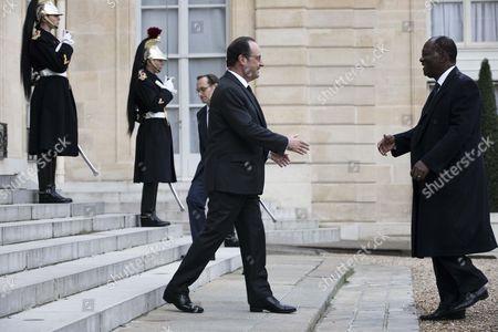 Francois Hollande and Alassane Ouattara