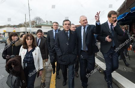 Francois Fillon, Jean-Marie Vilain and Jerome Chartier