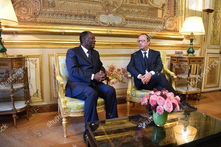 Alassane Ouattara and Francois Hollande