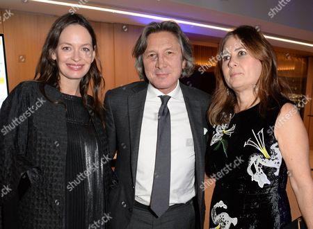 Leon Max, Yana Max and Alexandra Shulman