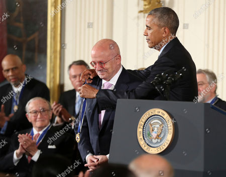 Barack Obama, Eduardo Padron President Barack Obama presents the Presidential Medal of Freedom to Miami Dade College President Eduardo Padron during a ceremony in the East Room of the White House, in Washington. Obama is recognizing 21 Americans with the nation's highest civilian award, including giants of the entertainment industry, sports legends, activists and innovators
