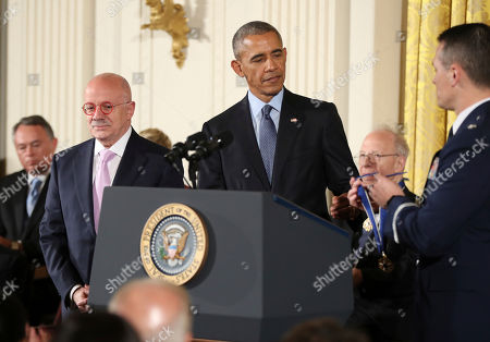 Barack Obama, Eduardo Padron President Barack Obama presents the Presidential Medal of Freedom to Miami Dade College President Eduardo Padron during a ceremony in the East Room of the White House, in Washington