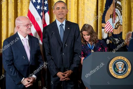 Barack Obama, Eduardo Padron President Barack Obama, right, stands with Miami Dade College President Eduardo Padron, left, before receiving the Presidential Medal of Freedom during a ceremony in the East Room of the White House, in Washington