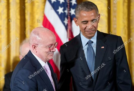 Stock Picture of Barack Obama, Eduardo Padron President Barack Obama, right, stands with Miami Dade College President Eduardo Padron, left, before receiving the Presidential Medal of Freedom during a ceremony in the East Room of the White House, in Washington