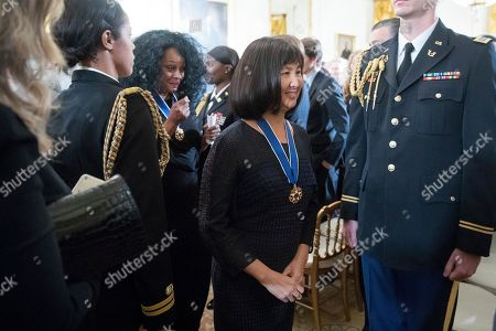 Maya Lin Artist and designer Maya Lin departs after receiving the Presidential Medal of Freedom at a ceremony in the East Room of the White House, in Washington. Obama is recognizing 21 Americans with the nation's highest civilian award, including giants of the entertainment industry, sports legends, activists and innovators