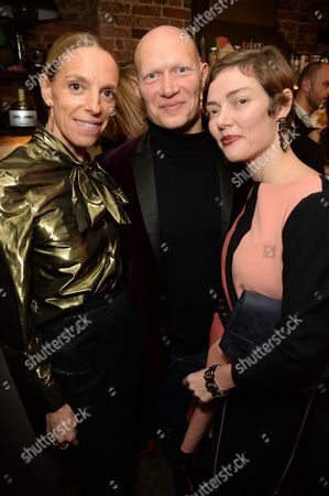 Tiphanie de Lussy, Dominic Burns and Camilla Rutherford