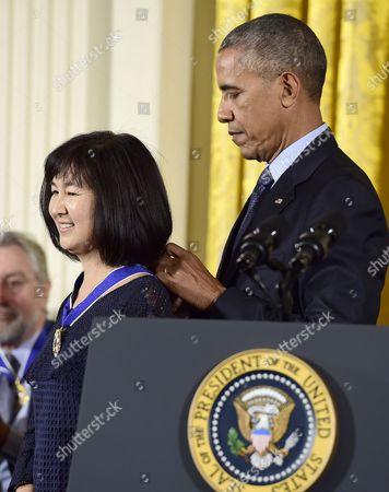 Editorial photo of Medal of Freedom presentation, Washington DC, USA - 22 Nov 2016