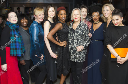 Jackie Clune (Stefano/Julius Caesar/Westmorland, Glendower), Clare Dunne (Portia, Octavius Caesar/Prince Hal), Jade Anouka (Ariel/Mark Antony/Hotspur), Phyllida Lloyd (Director), Harriet Walter (Prospero/Brutus/Henry IV), Leah Harvey (Miranda/Soothsayer/Poins, The Douglas), Kate Pakenham (Executive Producer) and Zainab Hasan (Gonzalo/Calpurina, Metellus Cimber/Hostess, Messenger)