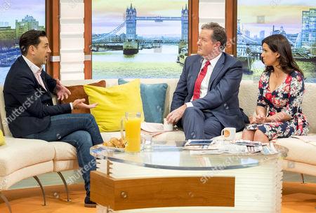 Andy Woodward, Piers Morgan and Susanna Reid