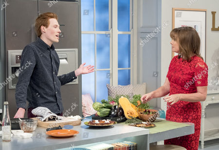 Andrew Smyth and Lorraine Kelly