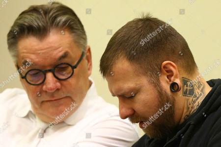 Stock Photo of Lawyer Herbert Hedrich, defendant Andre Eminger