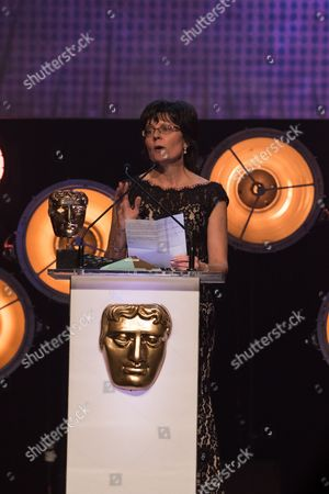 Category: Channel of the Year, Winner: CBeebies, Pictured: Kay Benbow