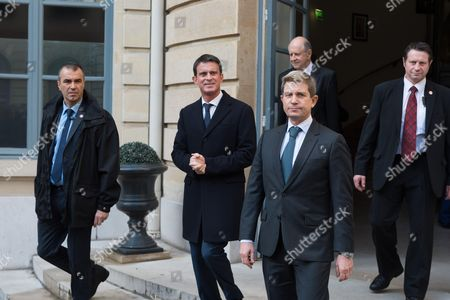 Manuel Valls and Louis Gautier