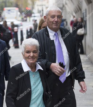 Jo Cox's parents Jean Leadbeater and Gordon Leadbeater arrive at the Old Bailey.
