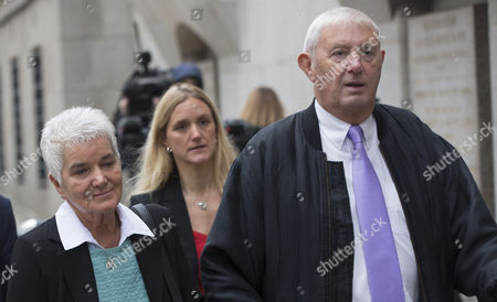 Jo Cox's sister Kim Leadbeater (back blonde hair, red top) and parents Jean Leadbeater and Gordon Leadbeater arrive at the Old Bailey.