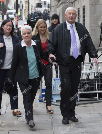 Jo Cox's sister Kim Leadbeater (back blonde hair, red top) and parents Jean Leadbeater and Gordon Leadbeater (right) arrive at the Old Bailey.