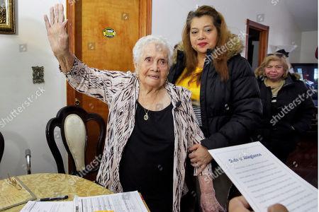 Editorial image of Naturalization Ninety Nine Year Old, New York, USA - 23 Nov 2016